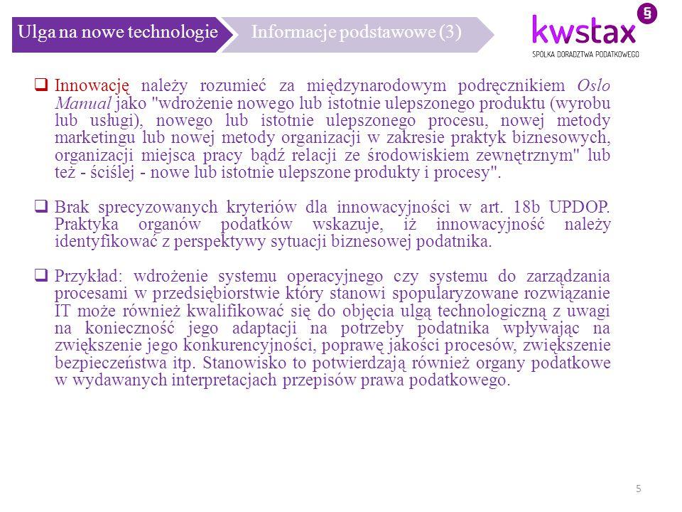 Ulga na nowe technologie Informacje podstawowe (3)