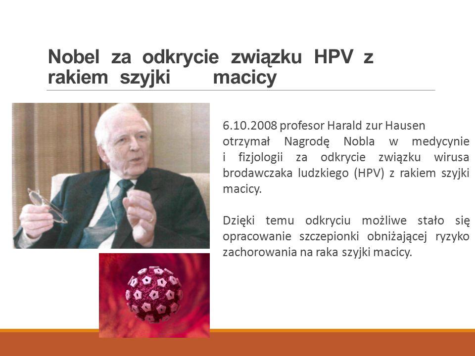 Nobel za odkrycie związku HPV z rakiem szyjki macicy