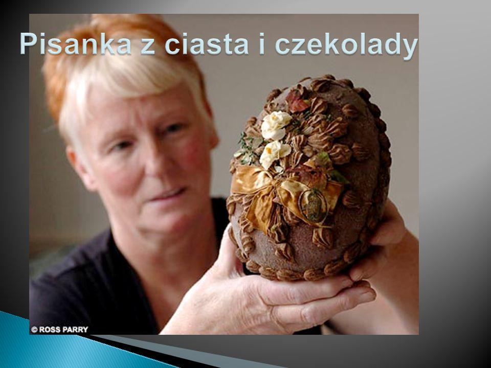 Pisanka z ciasta i czekolady