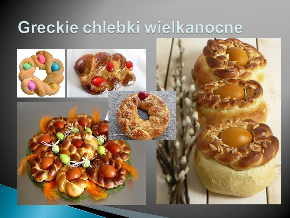 Greckie chlebki wielkanocne