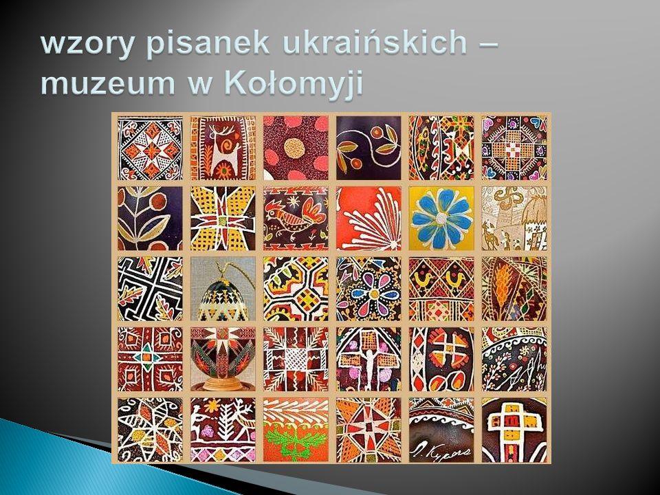 wzory pisanek ukraińskich – muzeum w Kołomyji