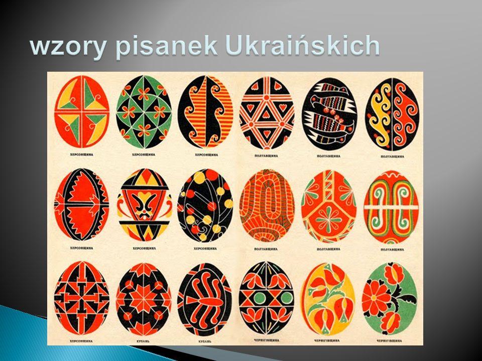 wzory pisanek Ukraińskich
