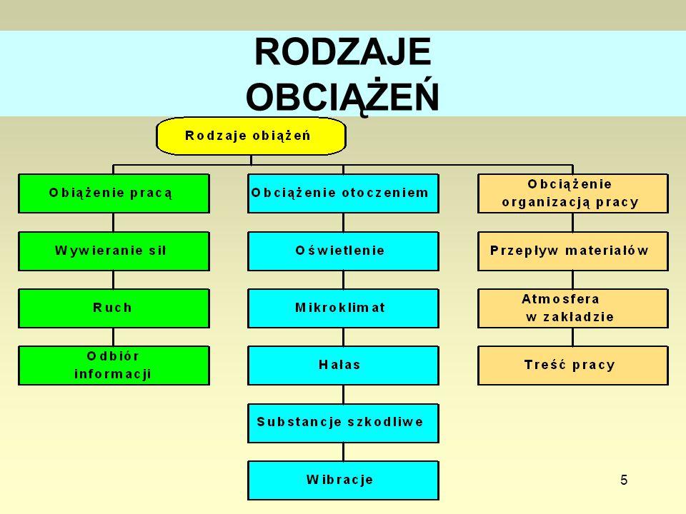 RODZAJE OBCIĄŻEŃ Zużewicz K.: Centralny Instytut Ochrony Pracy