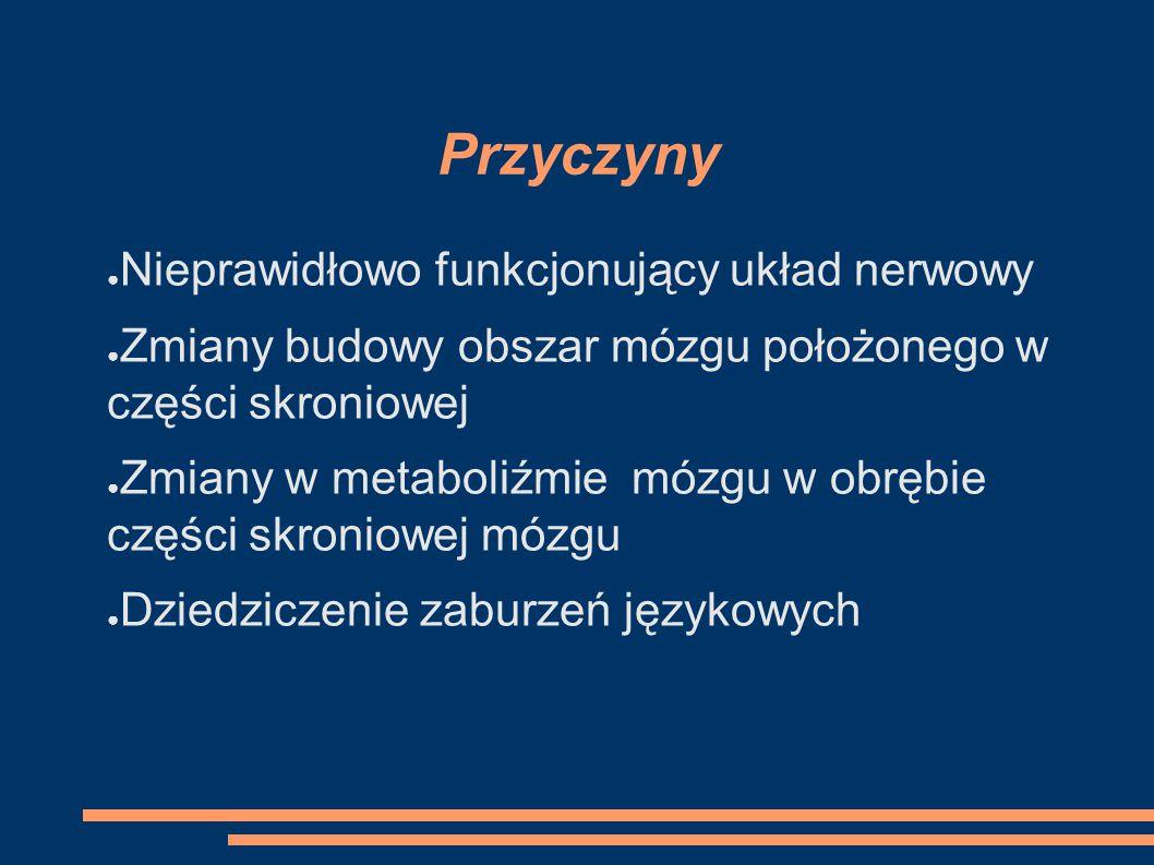 Przyczyny Nieprawidłowo funkcjonujący układ nerwowy