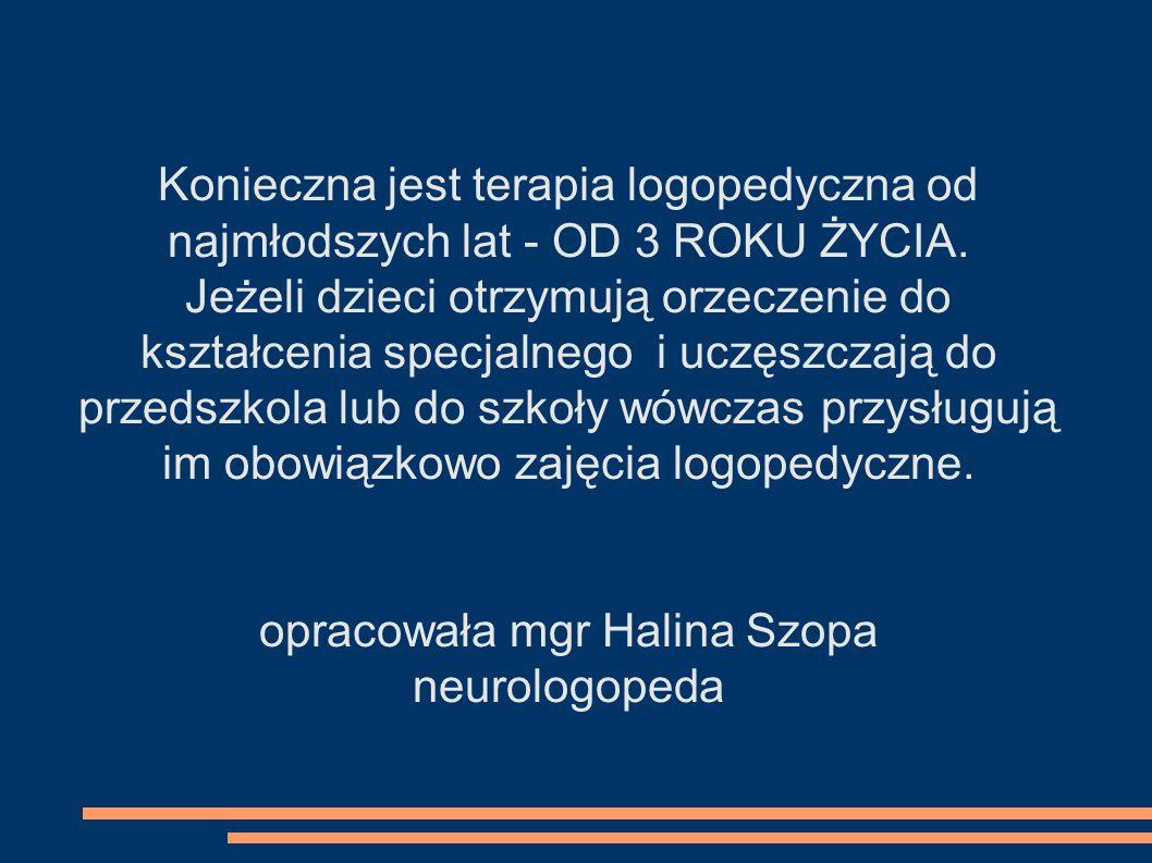 opracowała mgr Halina Szopa