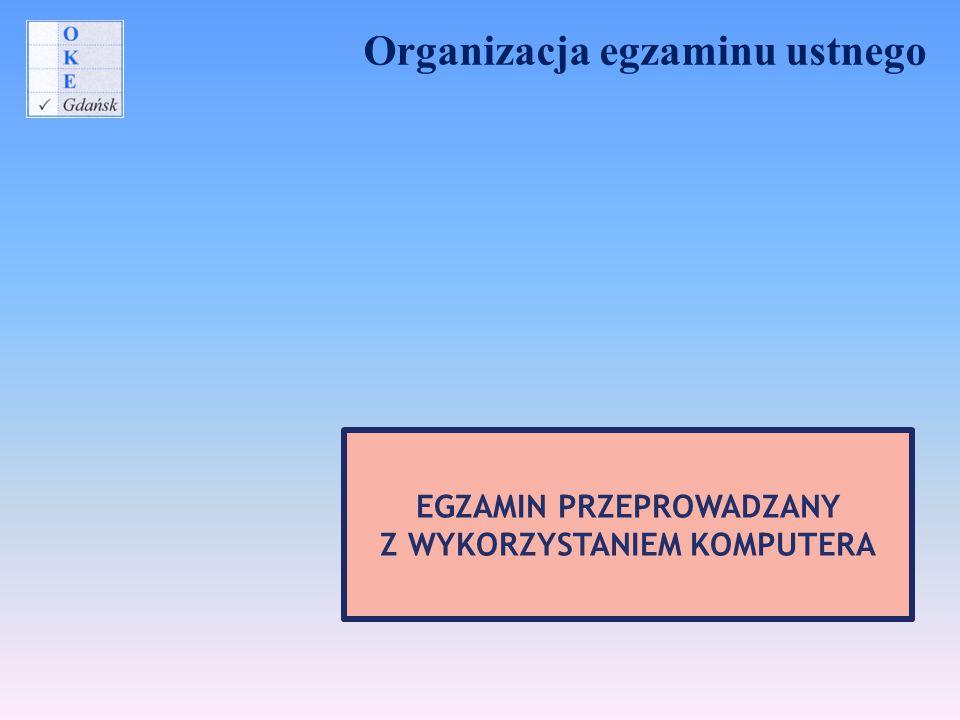 Organizacja egzaminu ustnego