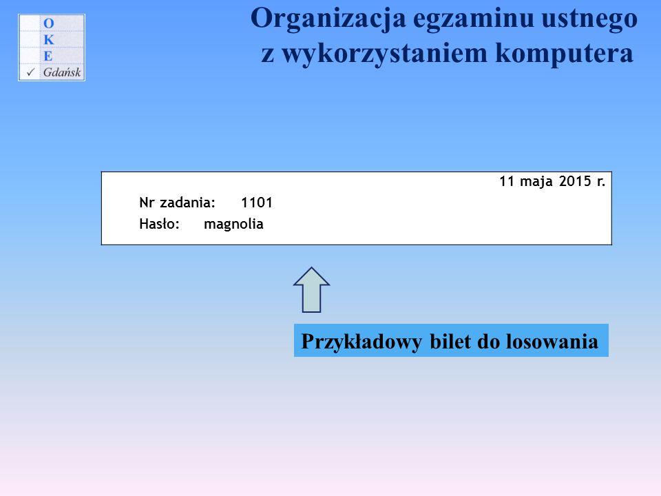Organizacja egzaminu ustnego z wykorzystaniem komputera