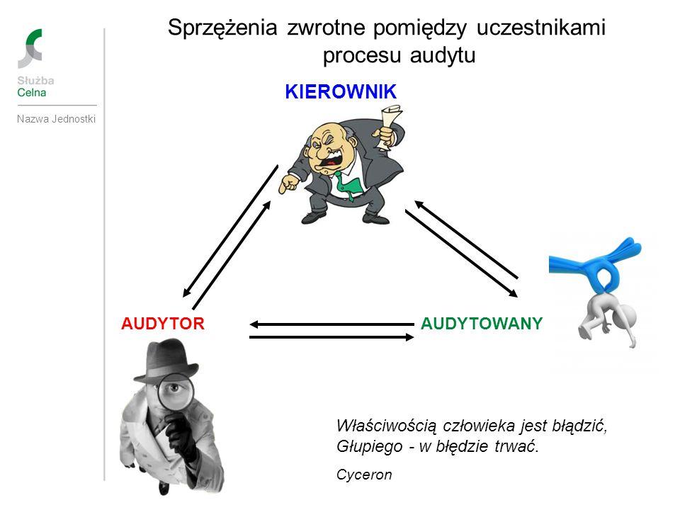 Sprzężenia zwrotne pomiędzy uczestnikami procesu audytu