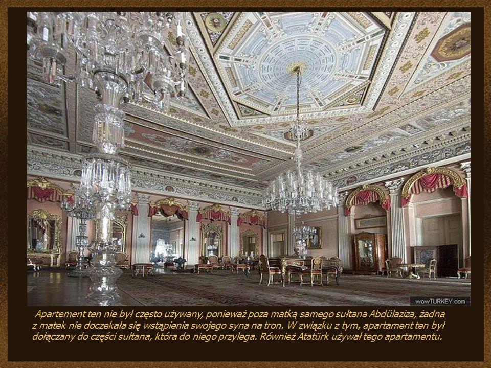 i tu Apartement ten nie był często używany, ponieważ poza matką samego sułtana Abdülaziza, żadna.
