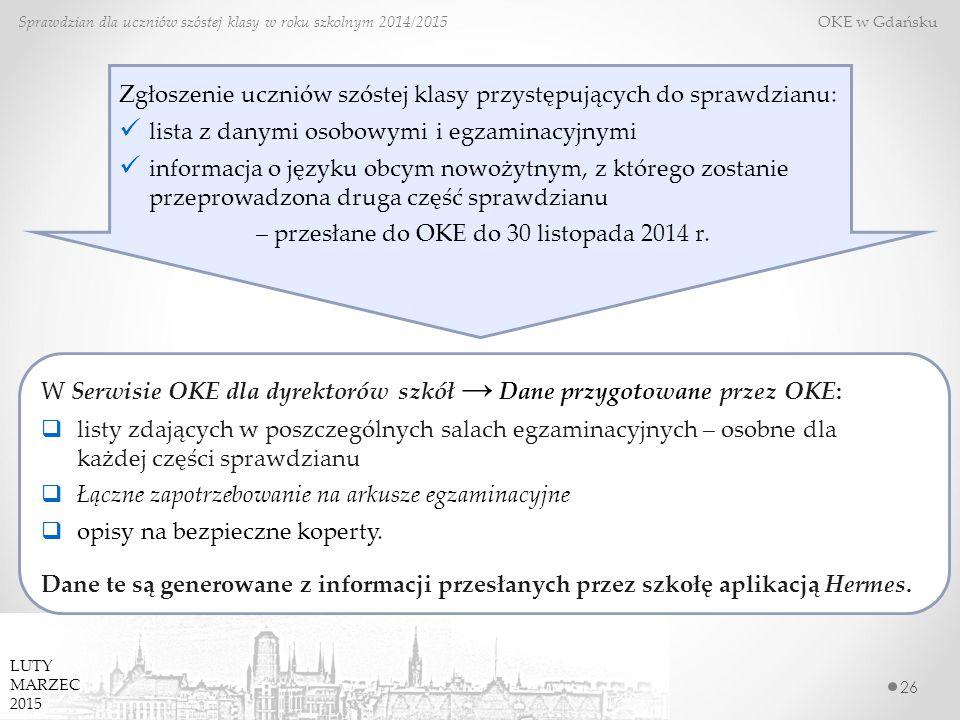 – przesłane do OKE do 30 listopada 2014 r.
