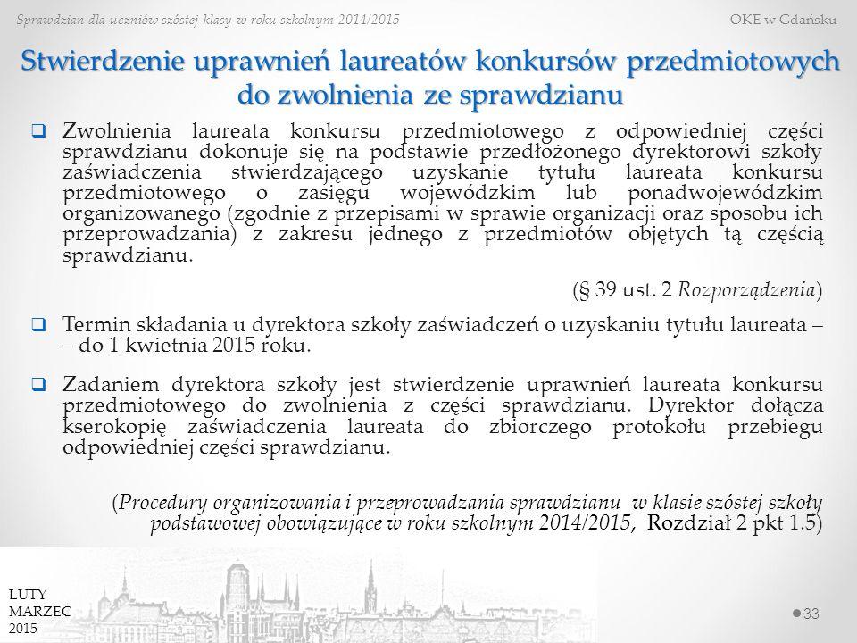 Stwierdzenie uprawnień laureatów konkursów przedmiotowych