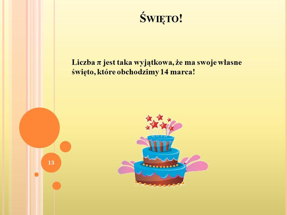 Święto! Liczba π jest taka wyjątkowa, że ma swoje własne święto, które obchodzimy 14 marca!