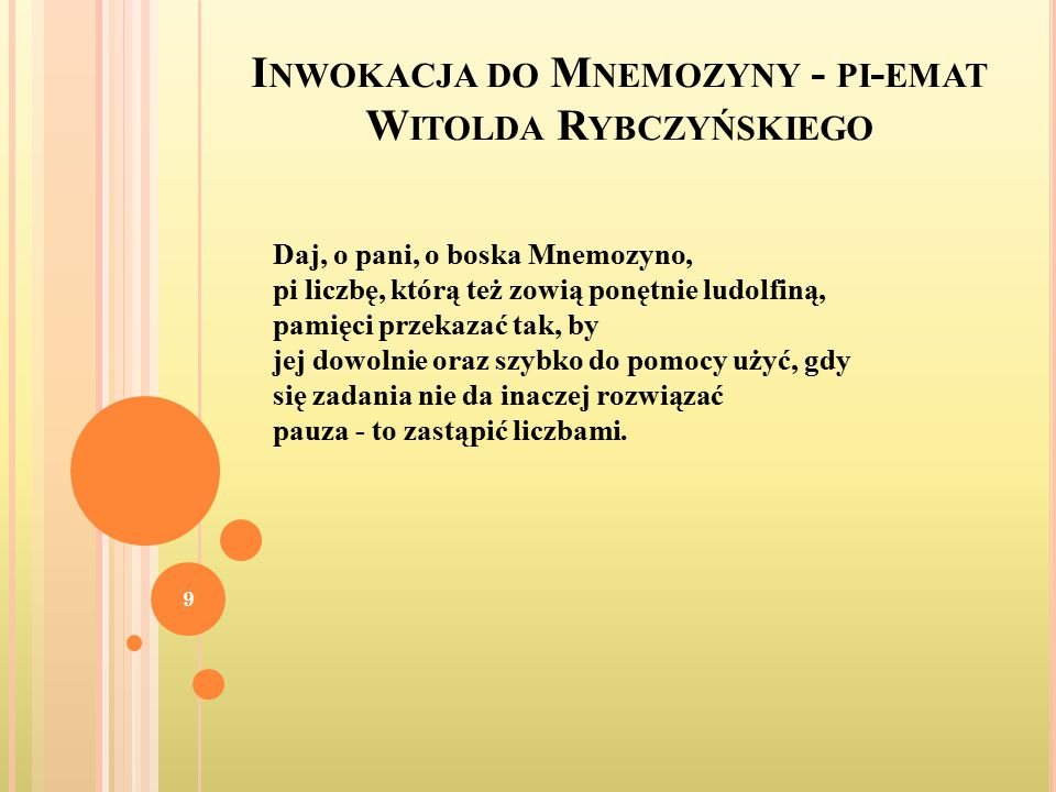Inwokacja do Mnemozyny - pi-emat Witolda Rybczyńskiego
