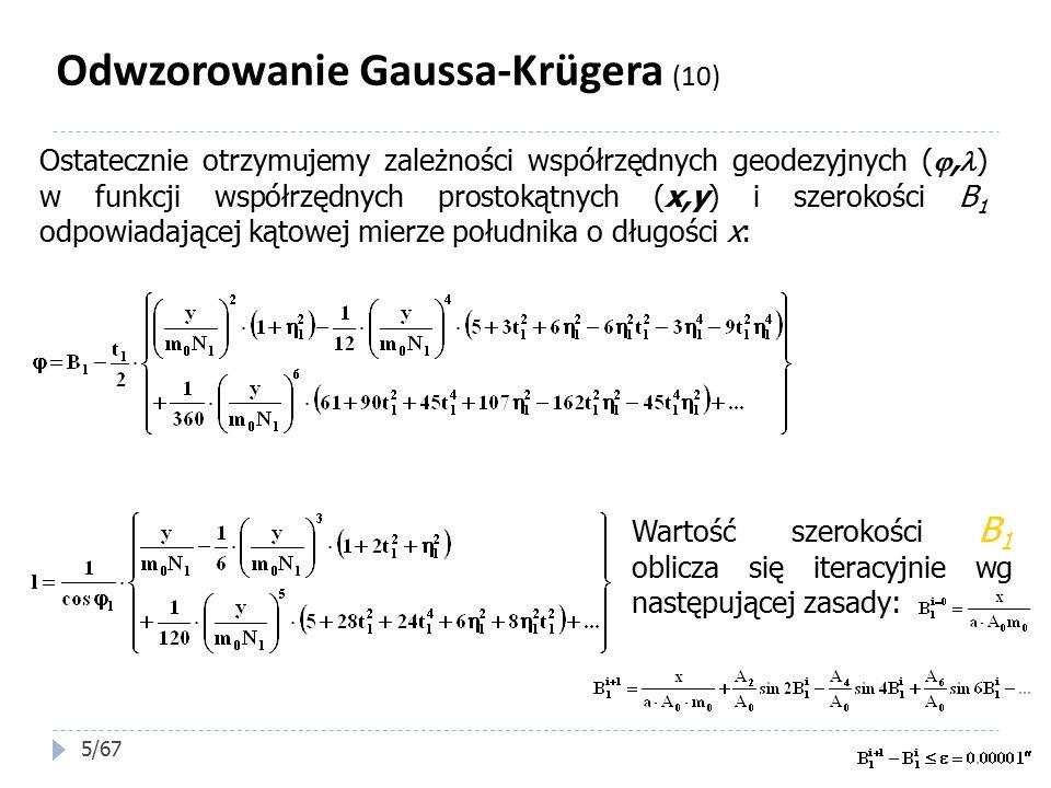 Odwzorowanie Gaussa-Krügera (10)