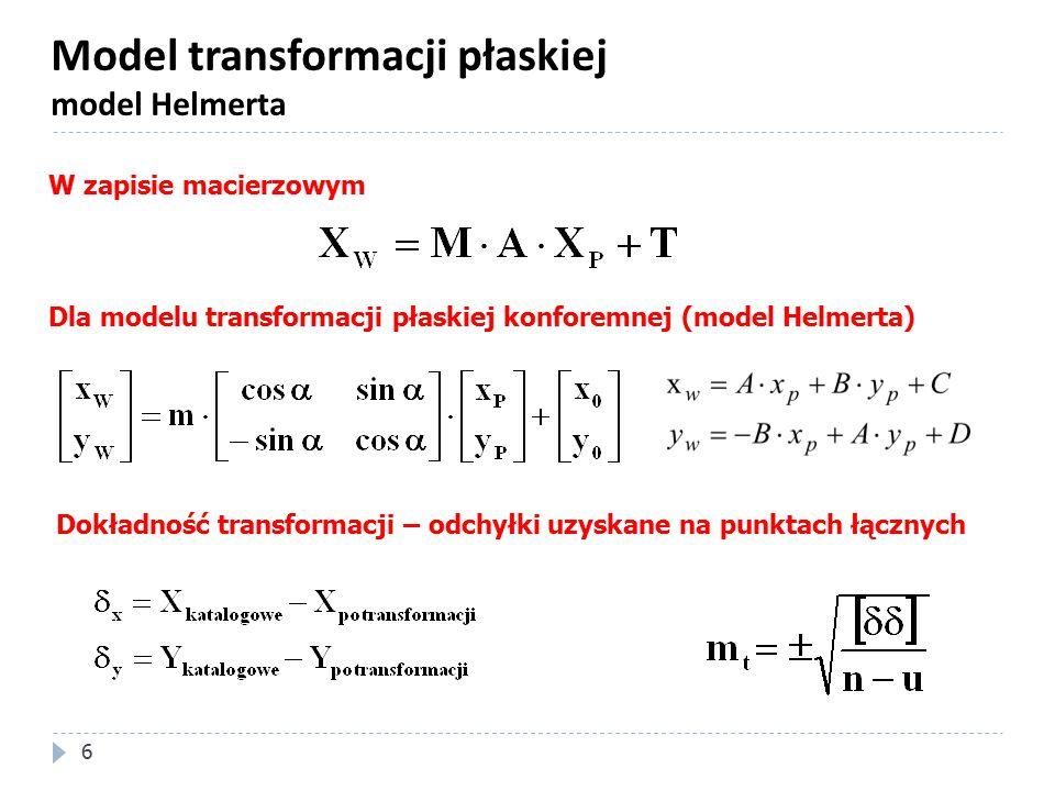 Model transformacji płaskiej model Helmerta