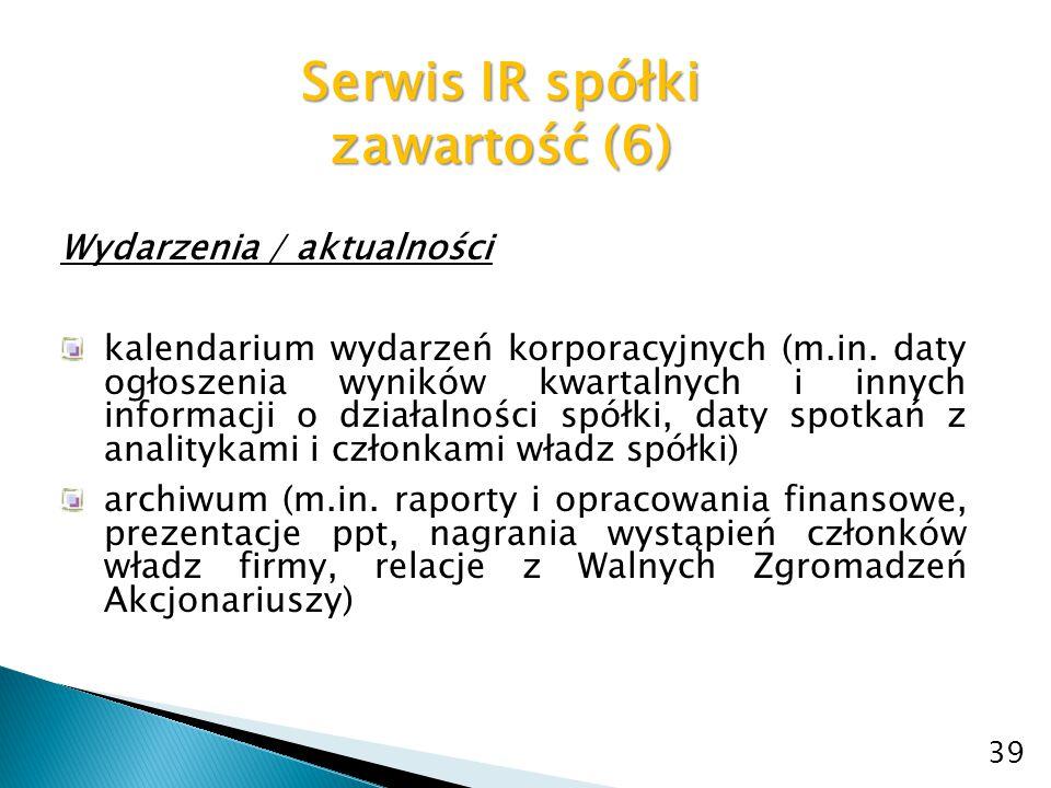 Serwis IR spółki zawartość (6)