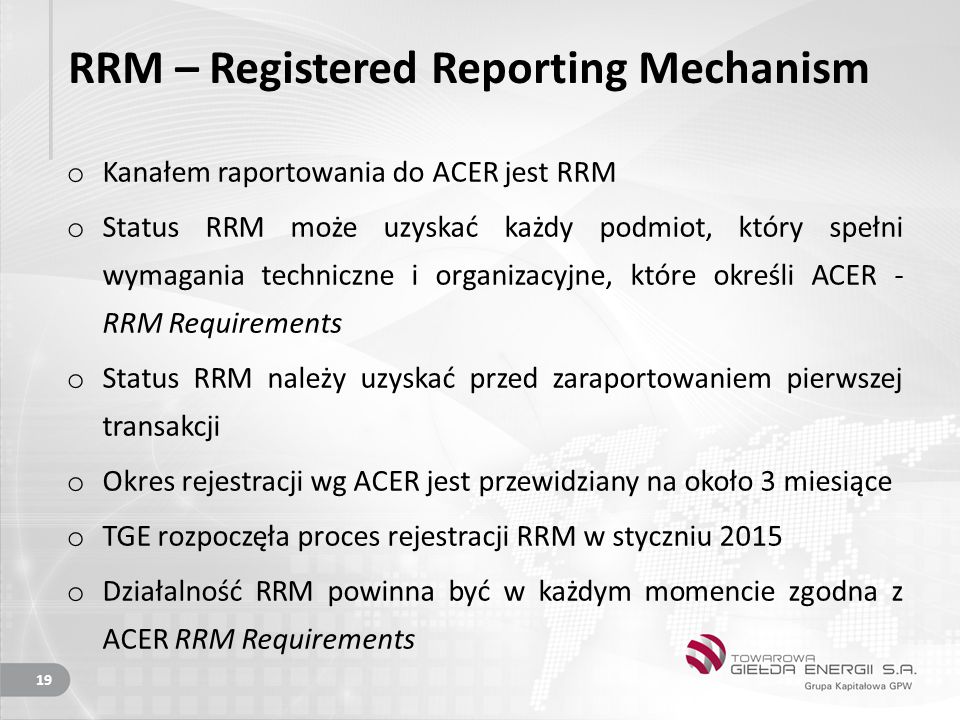RRM – Registered Reporting Mechanism