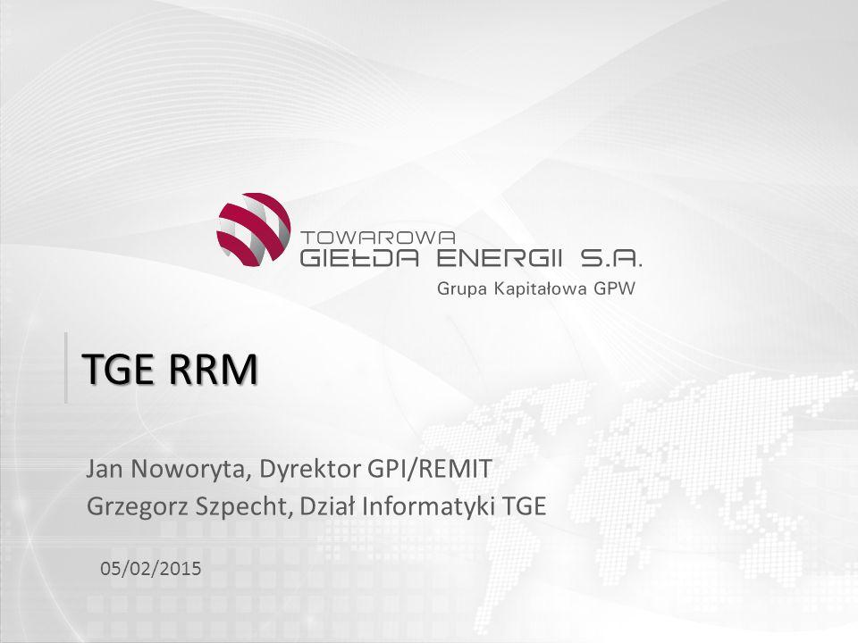 TGE RRM Jan Noworyta, Dyrektor GPI/REMIT