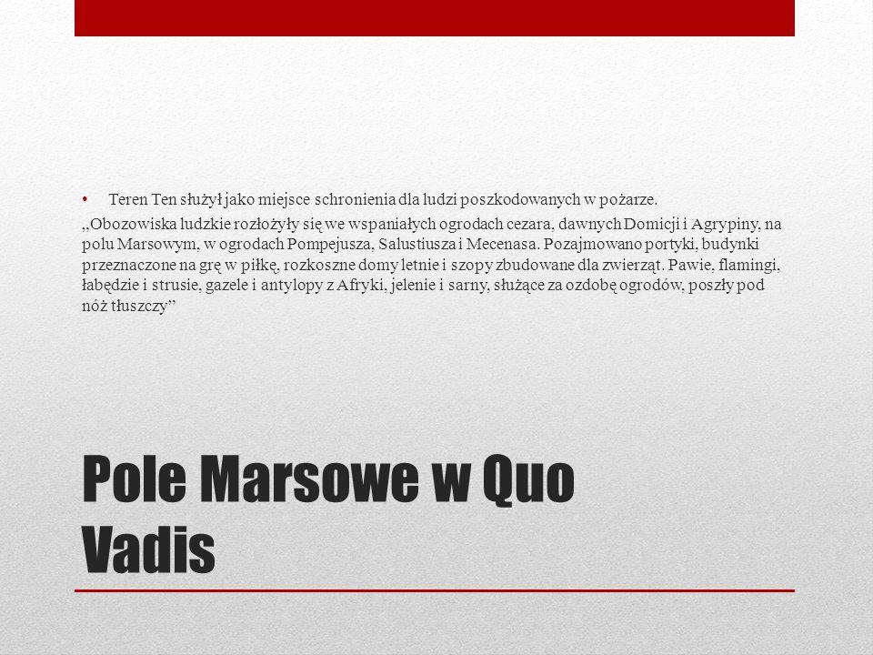 Pole Marsowe w Quo Vadis