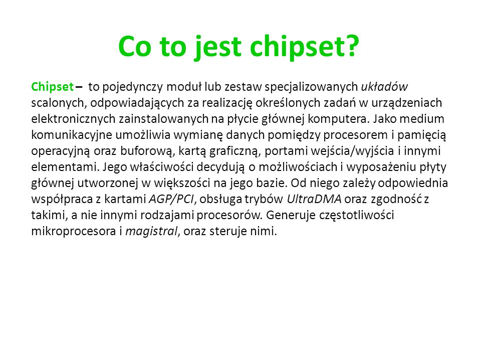 Co to jest chipset
