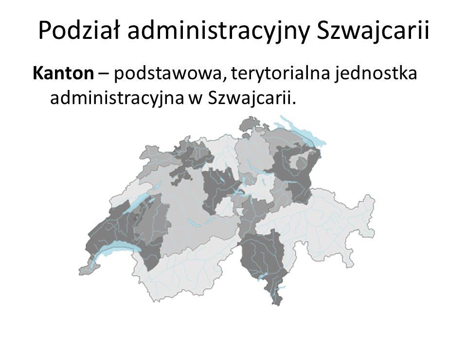 Podział administracyjny Szwajcarii