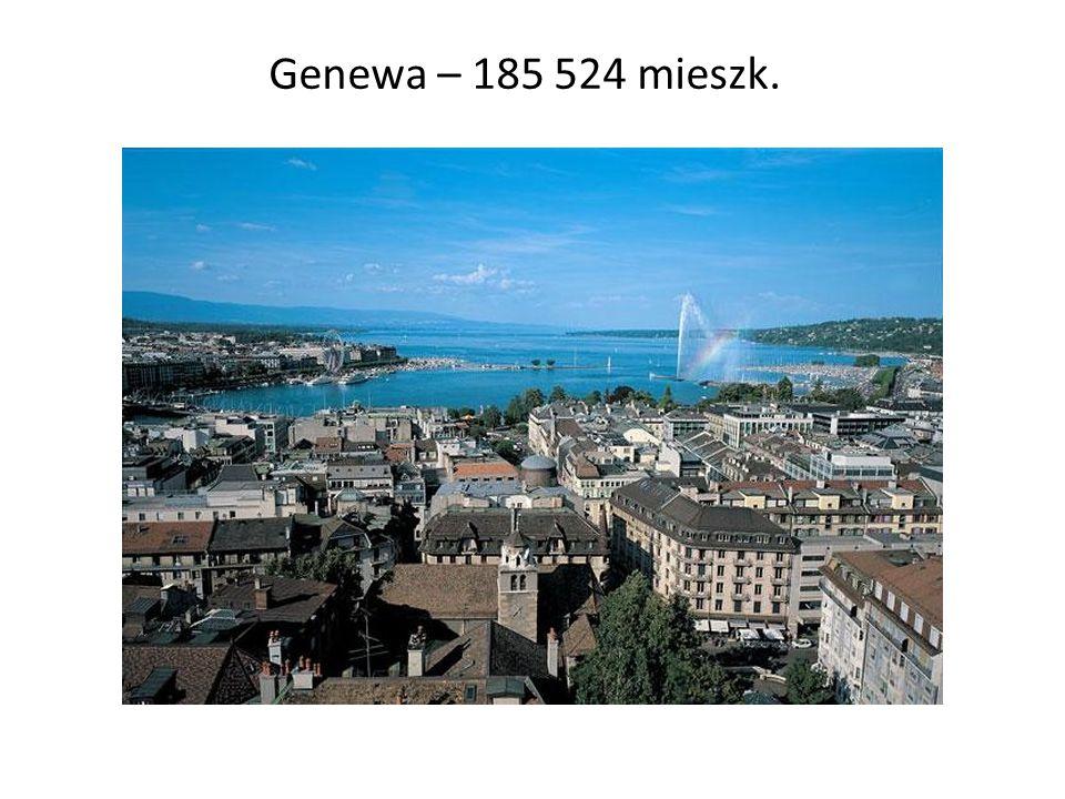Genewa – 185 524 mieszk.
