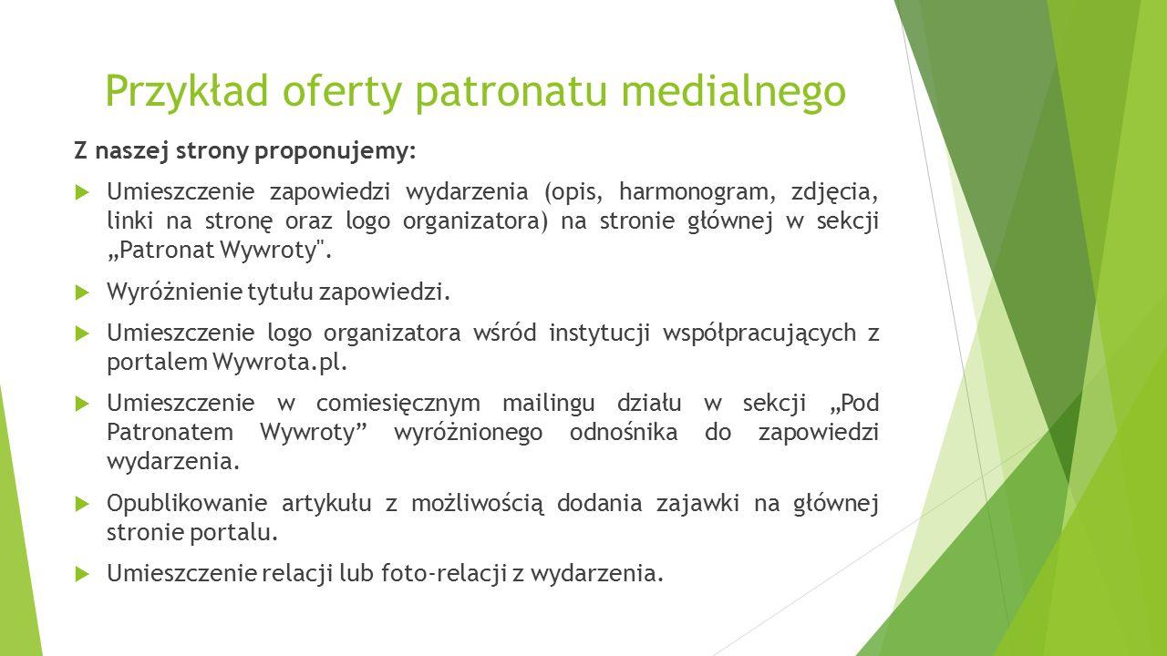 Przykład oferty patronatu medialnego