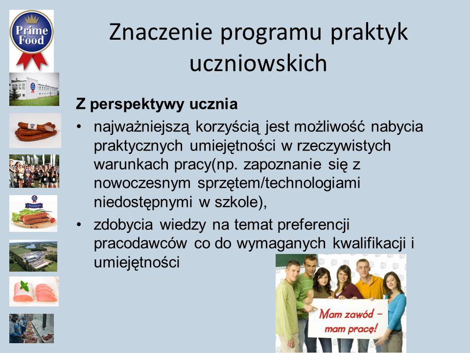 Znaczenie programu praktyk uczniowskich