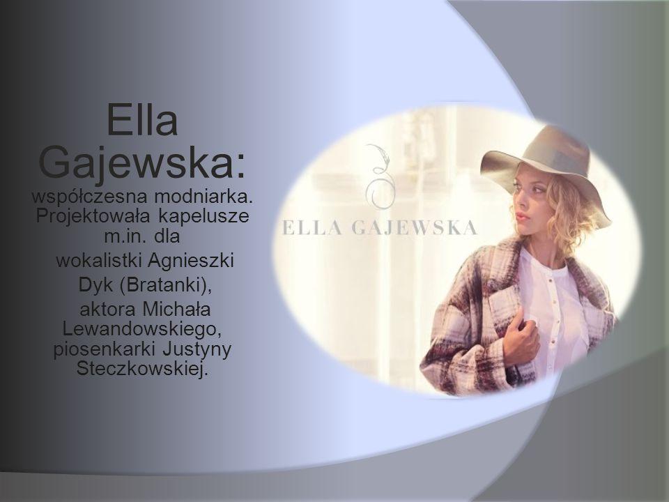 Ella Gajewska: współczesna modniarka. Projektowała kapelusze m.in. dla