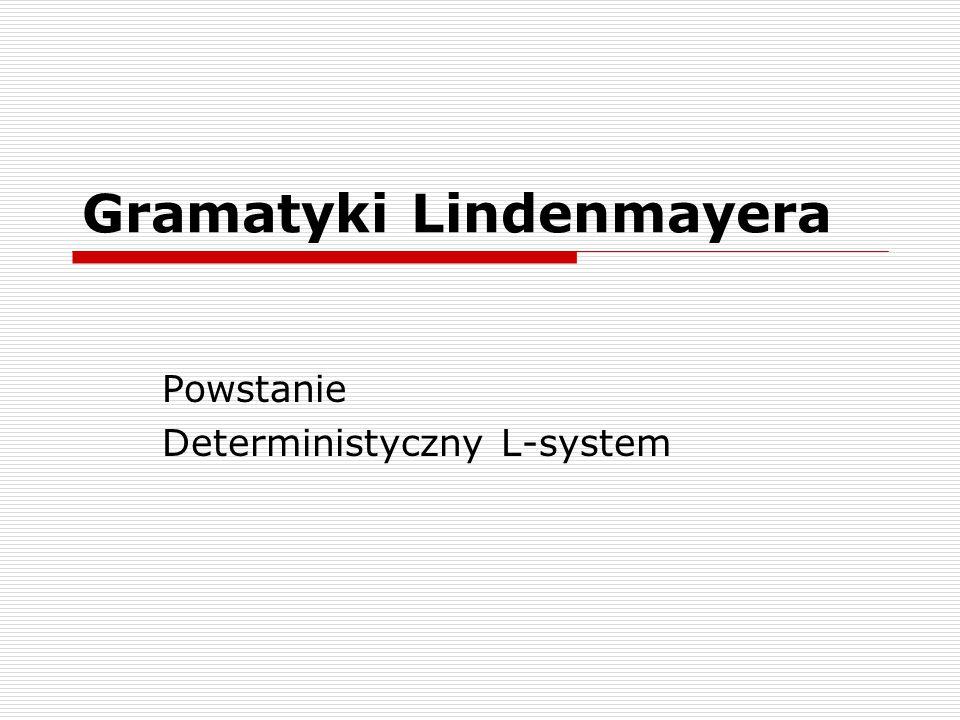Gramatyki Lindenmayera