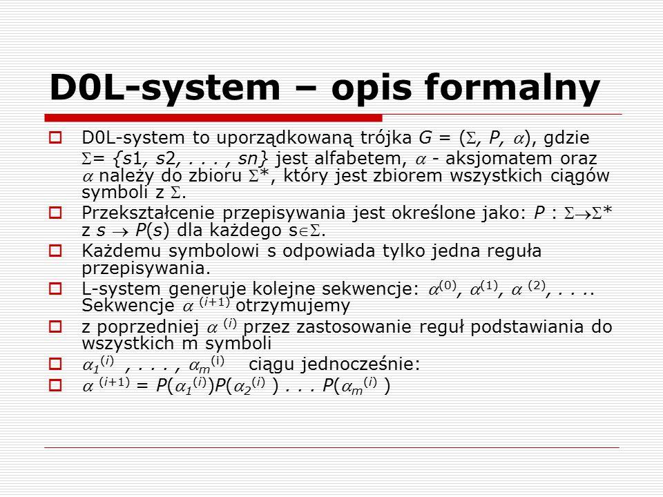 D0L-system – opis formalny