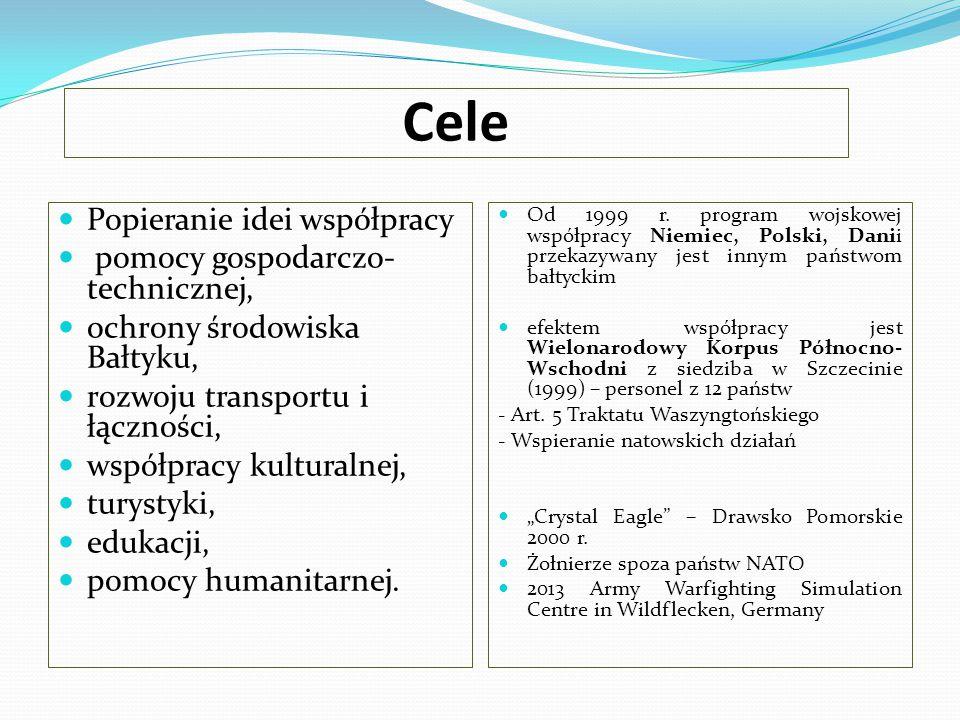 Cele Popieranie idei współpracy pomocy gospodarczo-technicznej,