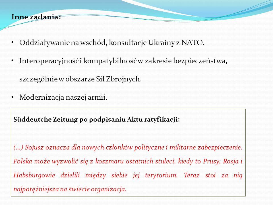 Oddziaływanie na wschód, konsultacje Ukrainy z NATO.