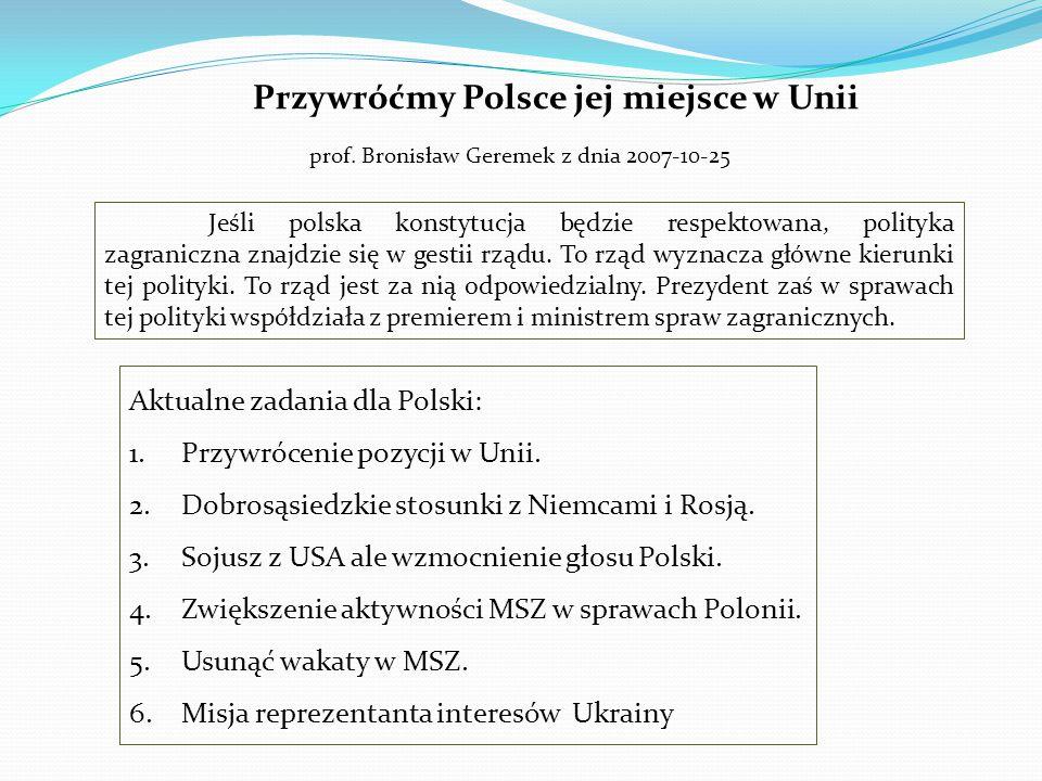 Przywróćmy Polsce jej miejsce w Unii