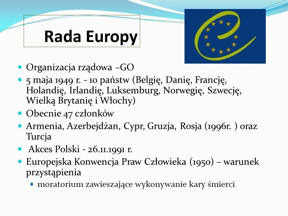 Rada Europy Organizacja rządowa –GO