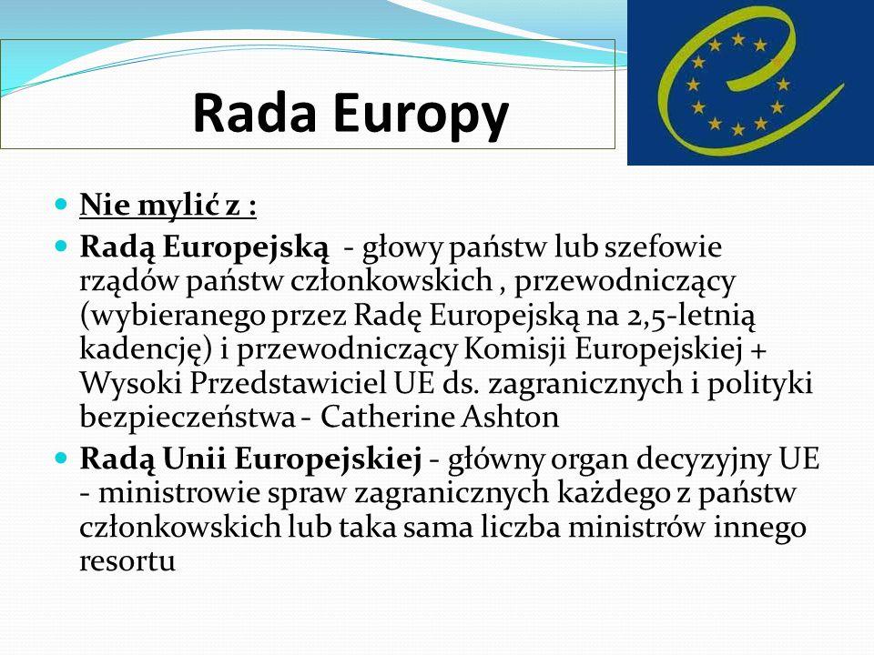 Rada Europy Nie mylić z :