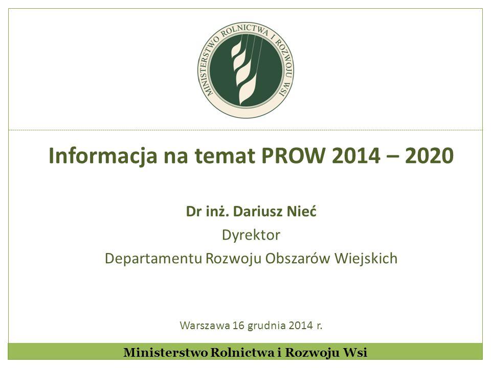 Informacja na temat PROW 2014 – 2020