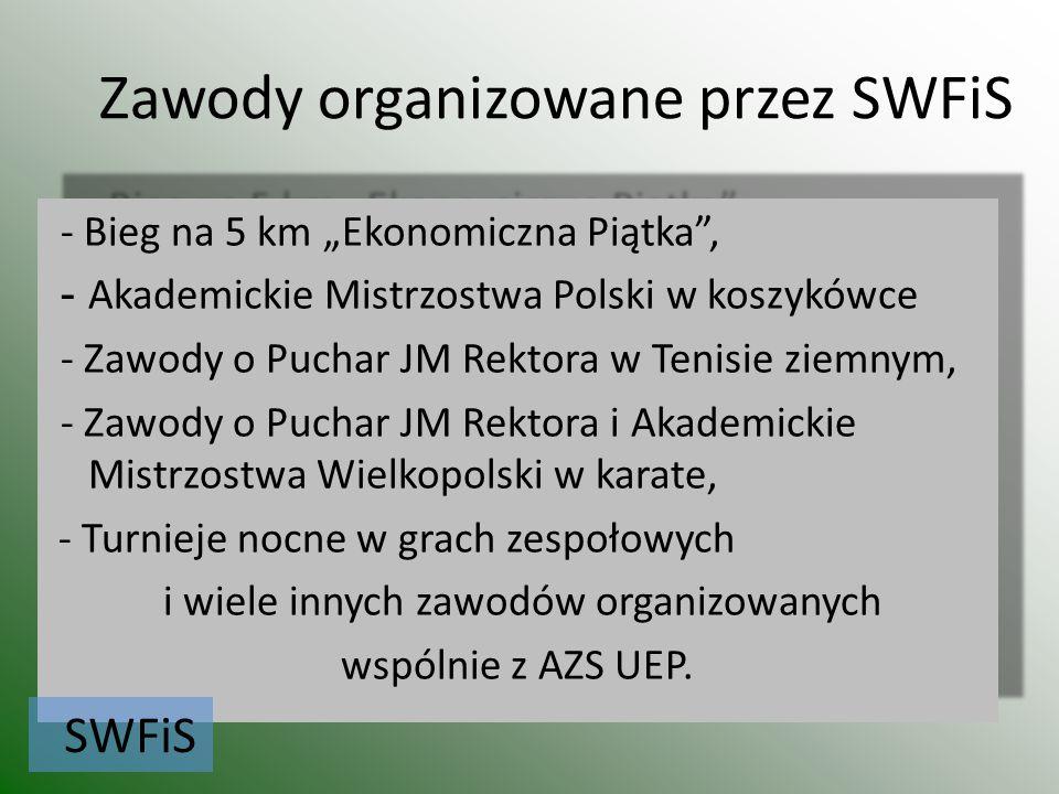 Zawody organizowane przez SWFiS