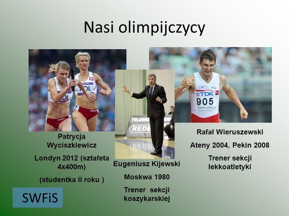 Nasi olimpijczycy SWFiS Rafał Wieruszewski Patrycja Wyciszkiewicz