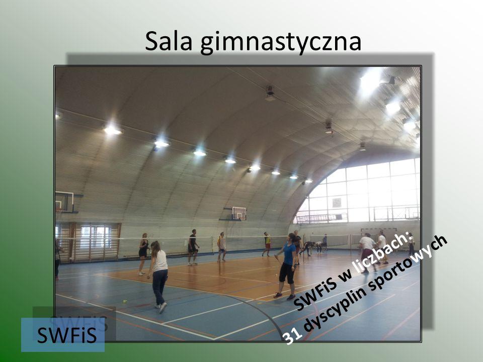 Sala gimnastyczna SWFiS w liczbach: 31 dyscyplin sportowych SWFiS