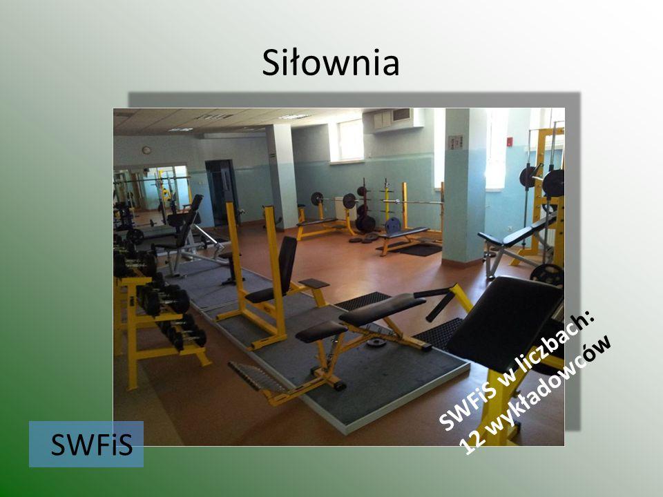 Siłownia SWFiS w liczbach: 12 wykładowców SWFiS