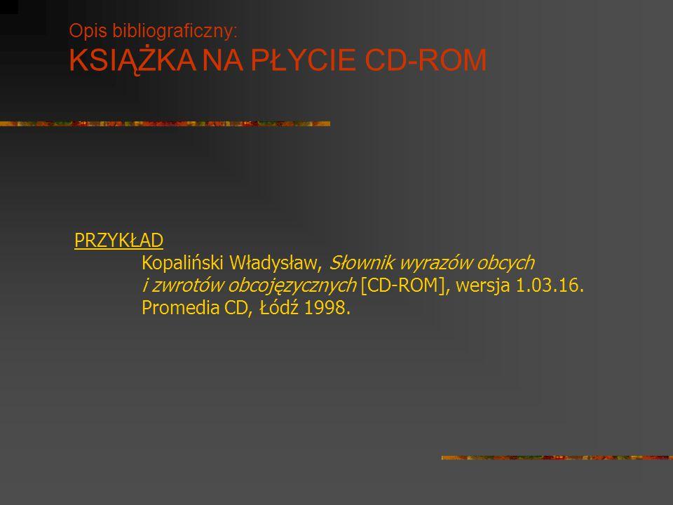 KSIĄŻKA NA PŁYCIE CD-ROM