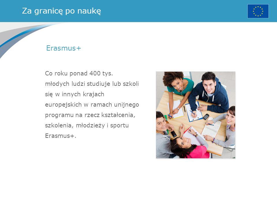 Za granicę po naukę Erasmus+