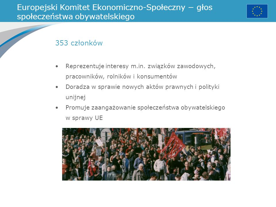 Europejski Komitet Ekonomiczno-Społeczny − głos społeczeństwa obywatelskiego
