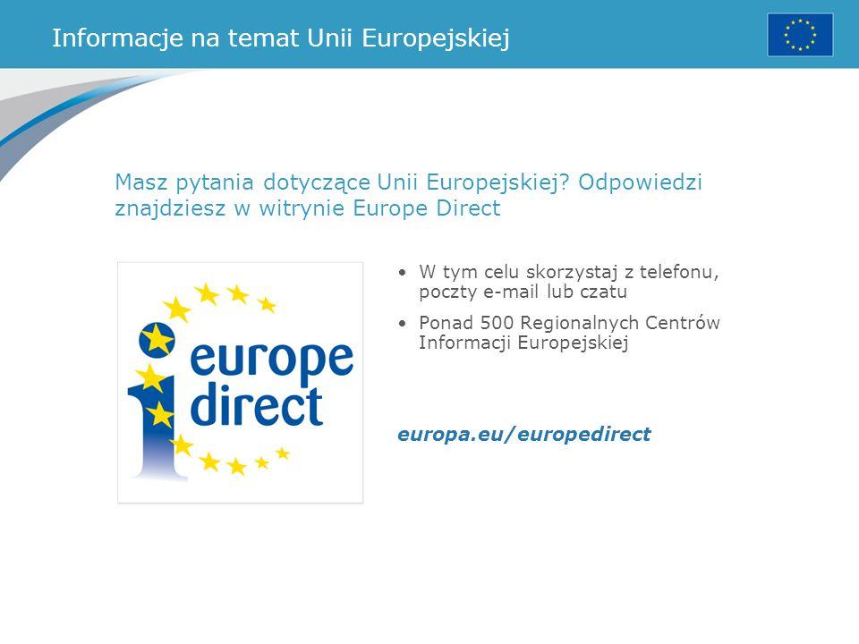 Informacje na temat Unii Europejskiej