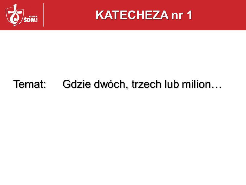Temat: Gdzie dwóch, trzech lub milion…