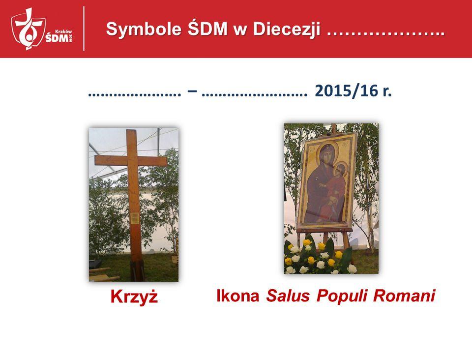 Symbole ŚDM w Diecezji ………………..