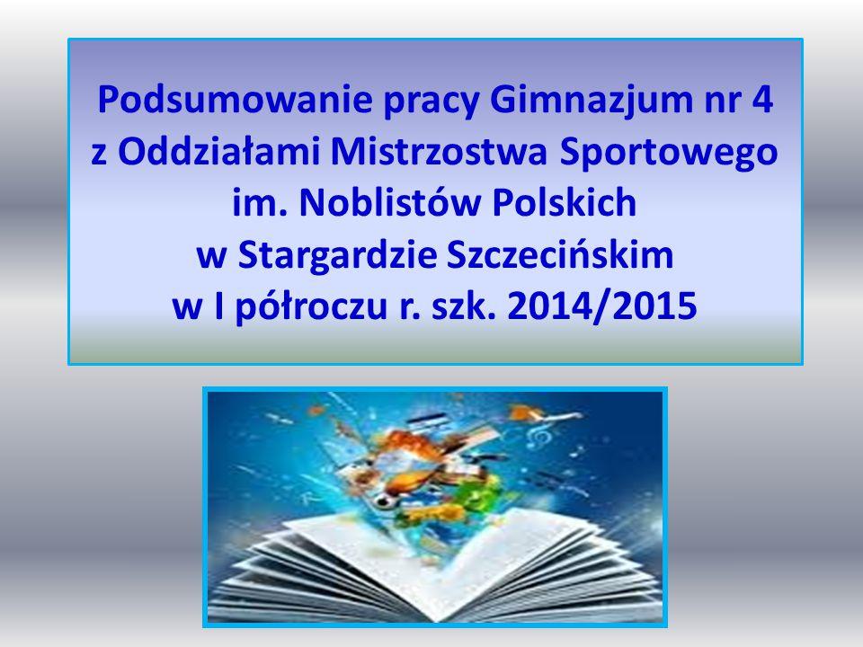 Podsumowanie pracy Gimnazjum nr 4 z Oddziałami Mistrzostwa Sportowego im.