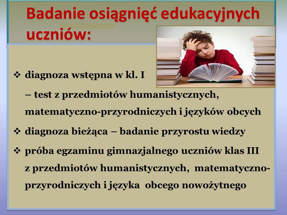 Badanie osiągnięć edukacyjnych uczniów: