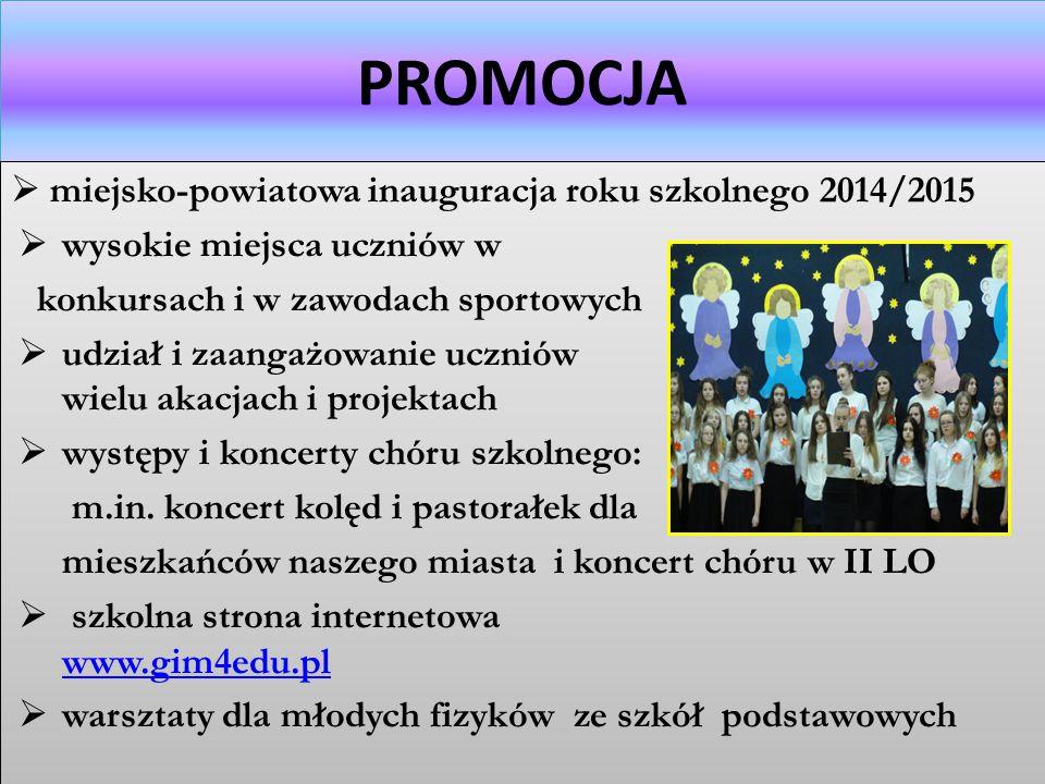 PROMOCJA miejsko-powiatowa inauguracja roku szkolnego 2014/2015